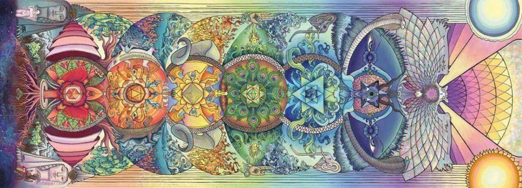 Image représentant les chakras, utilisés en Reiki Usui