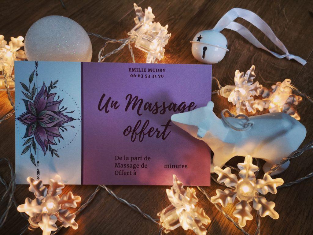 Carte cadeau massage bien-être